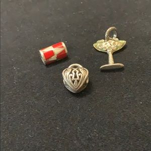 Set of three Brighton charms